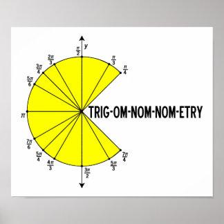 poster divertido de Trig-OM-nom-nom-etry