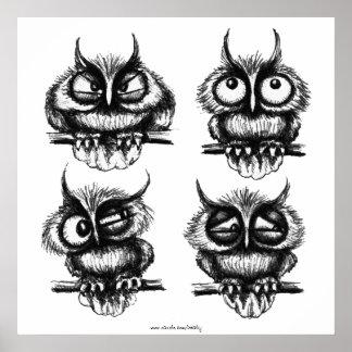 Poster divertido del arte del dibujo de la tinta d