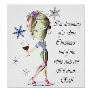 Poster divertido del arte del zapato del vino y de
