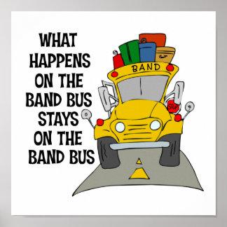Poster divertido del autobús de la banda
