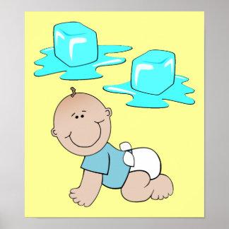 Poster divertido del bebé del hielo del hielo