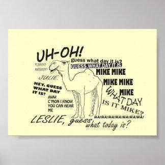 Poster divertido del camello del día de chepa
