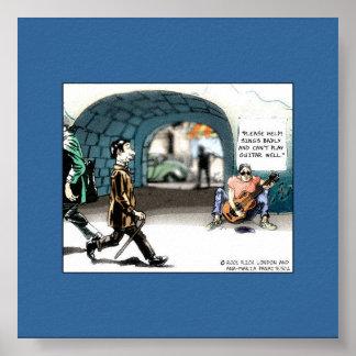 Poster divertido del coleccionable del dibujo anim