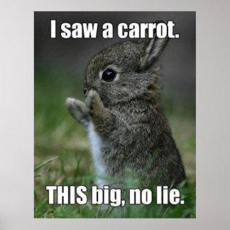 Poster divertido del conejito