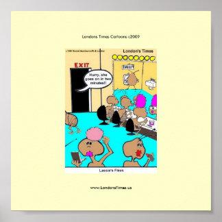Poster divertido del dibujo animado de las pulgas