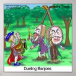 Poster divertido del dibujo animado de los banjos