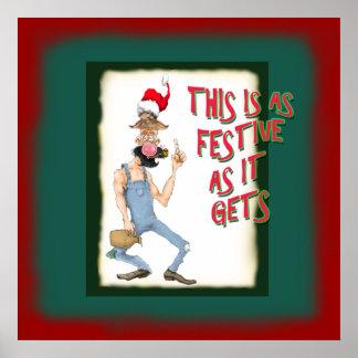 Poster divertido del dibujo animado del Hillbilly