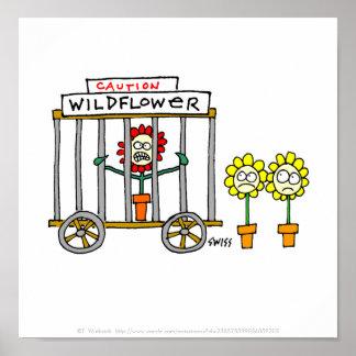 Poster divertido del dibujo animado del Wildflower