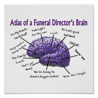 Poster divertido del director de funeraria/del emp