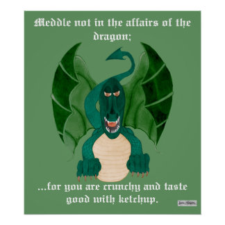 Poster divertido del dragón