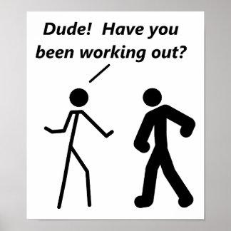 Poster divertido del entrenamiento de Stickman