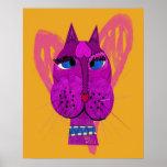 Poster divertido del gatito de la diva