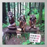 Poster divertido del mono