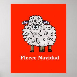 Poster divertido del navidad de las ovejas de