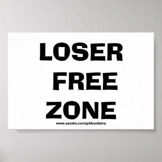 Poster divertido del perdedor