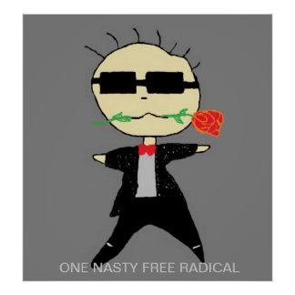 poster divertido del radical libre