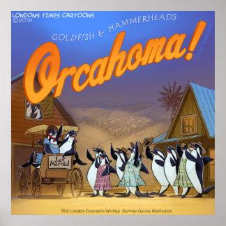 Poster divertido del teatro musical de la ballena