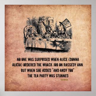 Poster divertido del trabajo del Wack de Alicia (e