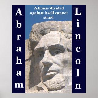 Poster dividido casa de Abraham Lincoln