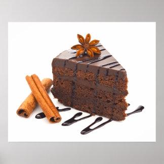 Poster divinamente decadente del arte de la torta