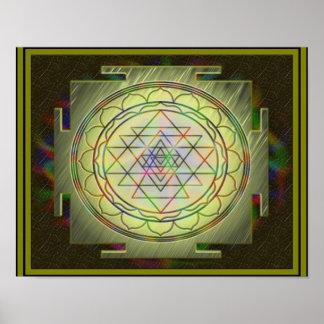 Poster divino de Sri Yantra10