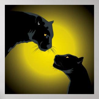 Poster doble de las panteras negras