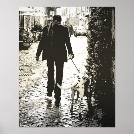 Poster - Dog Walking in Trastevere
