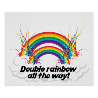 POSTER - DOUBLE RAINBOW ALL THE WAY