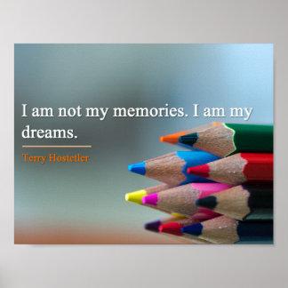 Poster - Dreams & Memories Inspirational Quote