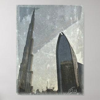 Poster Dubai - castle Khalifa