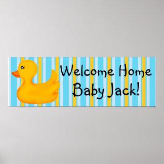 Poster Ducky de goma de la bandera