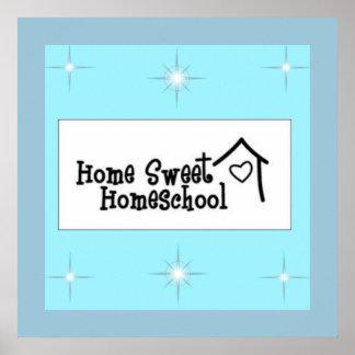 Poster dulce casero de Homeschool Póster