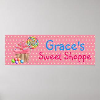 Poster dulce de la bandera del Shoppe de las magda