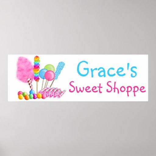 Poster dulce de la bandera del Shoppe del circo de