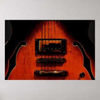 Poster dulce de la guitarra 36 x 24 de los azules  póster