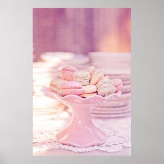 Poster dulce de los macarrones