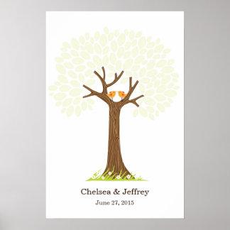 Poster (dulce) del árbol de la firma