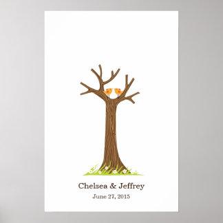 Poster (dulce) del árbol de la huella dactilar