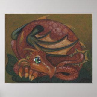 Poster dulce del arte de la fantasía del ojo grand