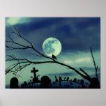 Poster dulce del cementerio de la Luna Llena de la