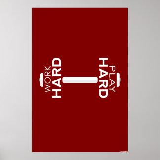 Poster duro de la aptitud del juego duro del traba
