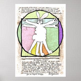 Poster e impresión de DaVinci del conejito