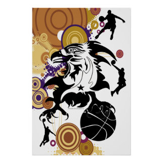 Poster-Eagle-Basketball-logo-1 Póster