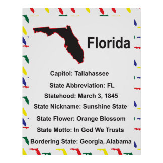 Poster educativo de la información de la Florida
