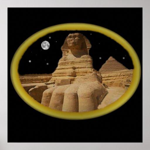 Poster egipcio de la esfinge