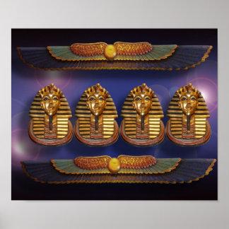 Poster egipcio del tut del rey