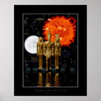 Poster Egipcio-diseñado antiguo de la fantasía