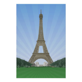 Poster: Eiffel Tower Paris: Vector Drawing Poster