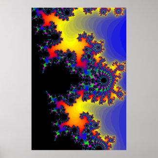 Poster: El borde del fractal Póster