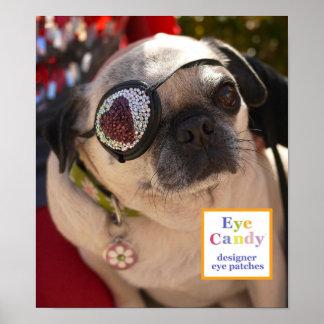 Poster: El caramelo del ojo observa la mascota, Tr Póster
